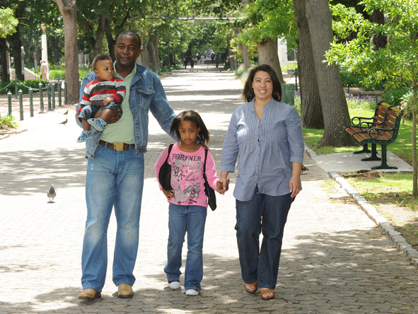 Candice Eseme - on a stroll in the Company Gardens with her family
