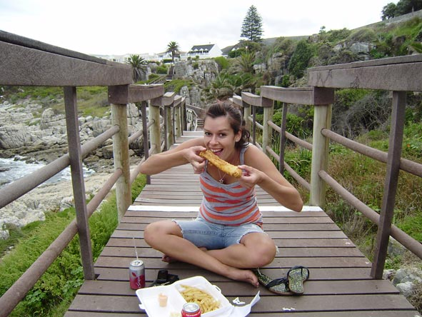 Candice McCarthy - fish and chips lunch down at the beach