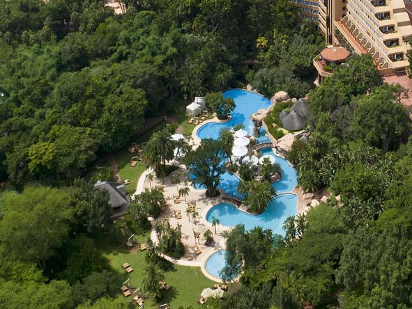 Cascades Hotel - aerial view of the whole resort