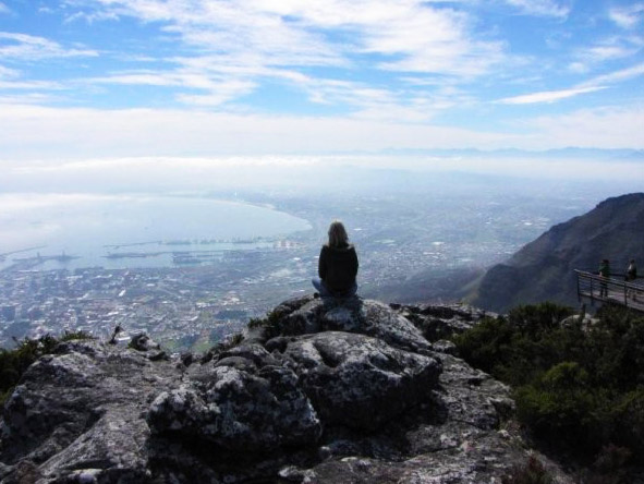 Christine Mischker - admiring the views of Cape Town