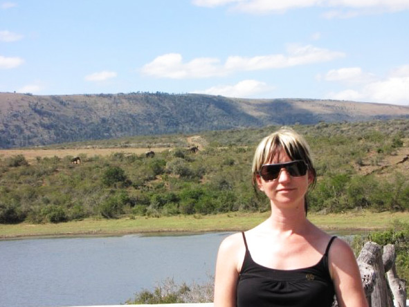 Christine Mischker - enjoying a safari in the Eastern Cape