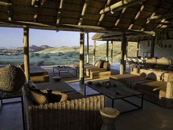 Damaraland Camp - luxury lounge with wilderness views