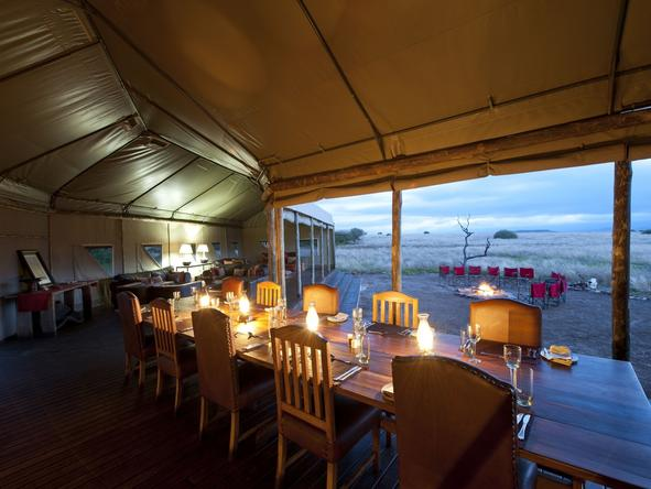 Desert Rhino Camp - Dining