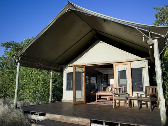 Desert Rhino Camp -Private Deck
