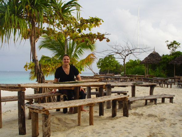 Gelle Ritchie - on the beach in Zanzibar