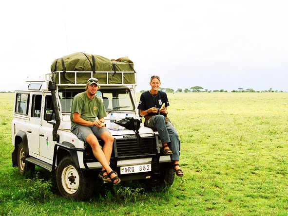 Ingrid de Wet - out on safari in East Africa