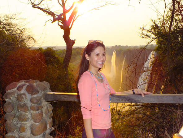 Jehan Begg - sunset at Vic Falls