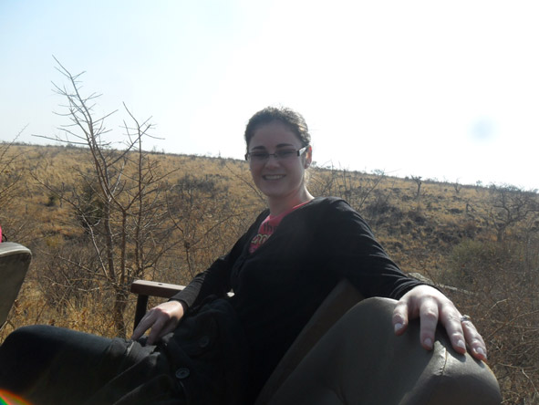 Jenieen van der Heever - on safari in Madikwe Game Reserve