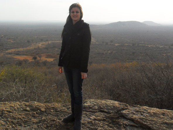 Jenieen van der Heever - admiring the spectacular views in Madikwe