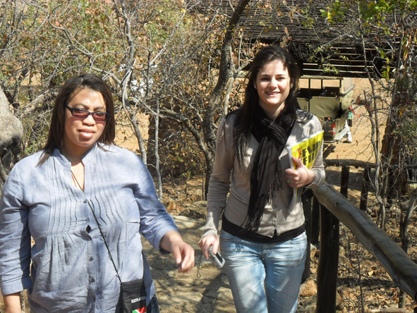 Jenieen van der Heever - with fellow Africa Safari Expert Candice at Madikwe Game Reserve