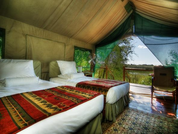 Kanana Lodge - tent interior