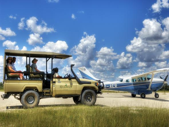 Kanana Lodge - game drive + aeroplane