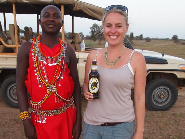Kate Erskine - life is good in Africa!