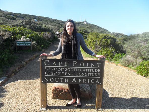 Kelly-Anne Blanchard - visiting Cape Point