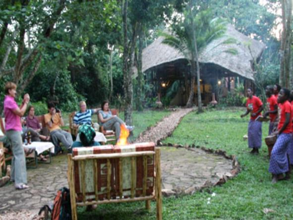 Kibale Forest Camp - locals dancing