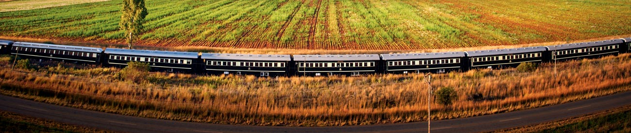 Luxury Train Travel - discover Africa's landscapes from another angle on one of the most luxurious train journeys in the world.