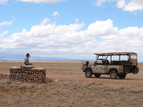 Lauren Johansson - a quick pitstop while on safari in Kenya