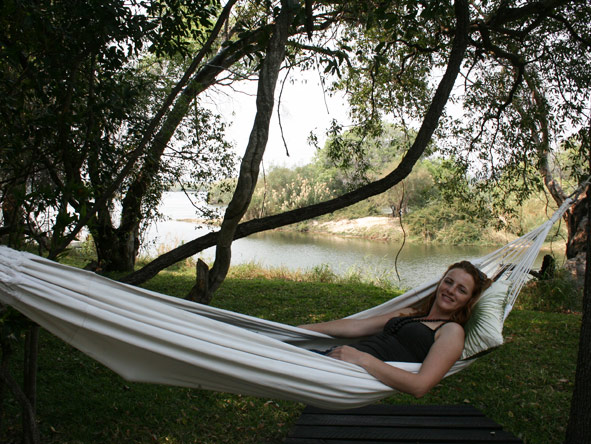 Leanne Rodney - taking time out while on safari in Zambia