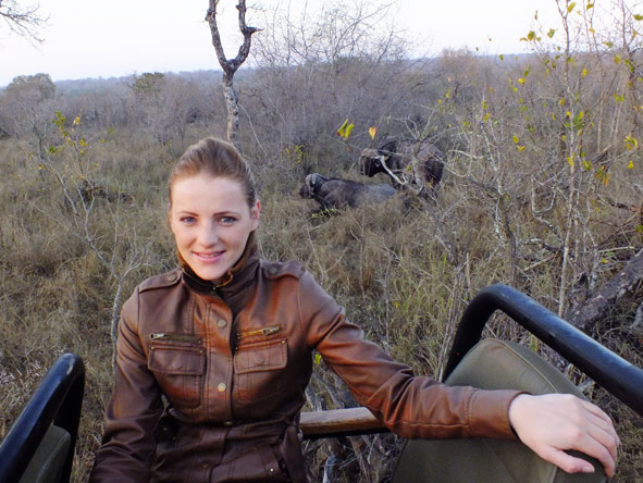 Leanne Rodney - spotting the Big 5 while on safari