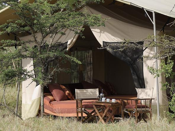 Leleshwa Tented Camp -Private deck