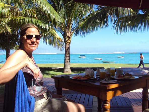 Liesel van Zyl - soaking up more incredible good weather in Mauritius - what a view!
