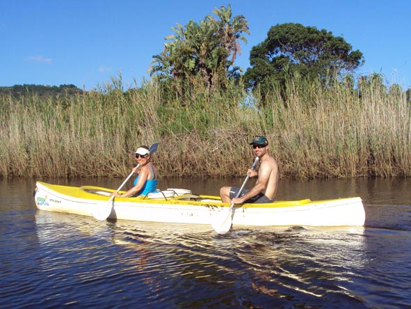 Liesel van Zyl - embarking on a relaxed canoe cruise in the Eastern Cape