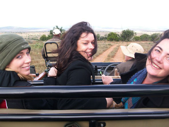 Lisa Liprini - on safari in the Eastern Cape with fellow Safari Experts, Candice and Monica