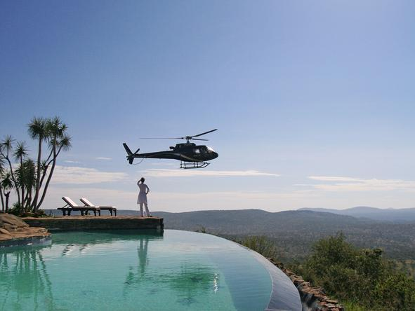 Loisaba House - Helicopter flights