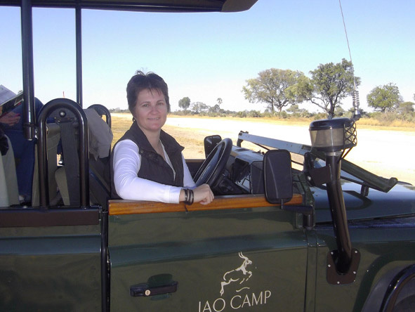 Madelein Norval - on safari at Jao Camp in Botswana