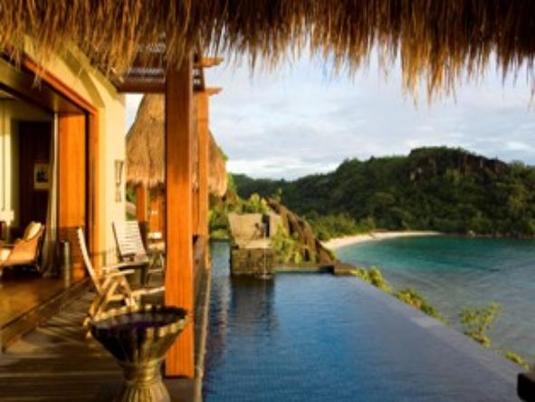 Maia Luxury Resort & Spa - private pool overlooking beach