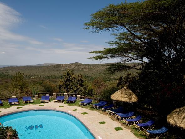 Masai Mara Sopa Lodge - Pool View