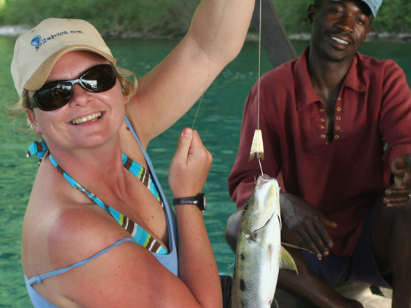 Maureen Stover - a fishing success!