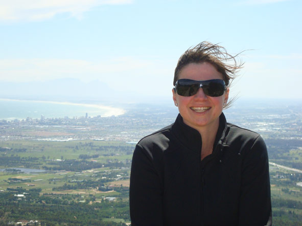 Monique Roden - overlooking the city of Cape Town