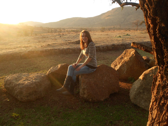 Monique Tolken - sunset in Letsatsing Game Reserve