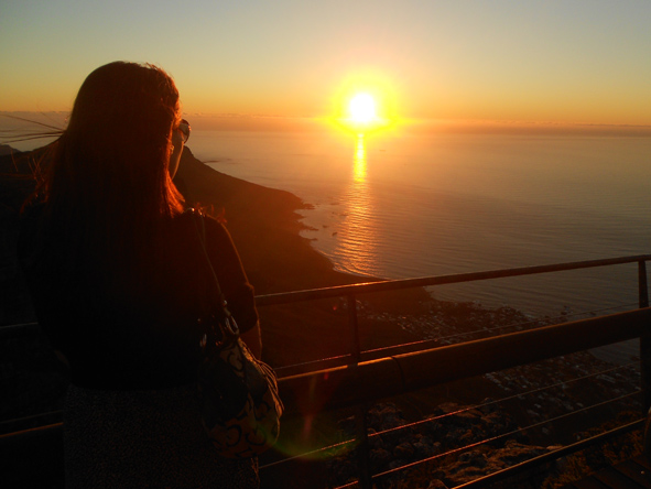 Monique Tolken - enjoying a beautiful Cape Town sunset