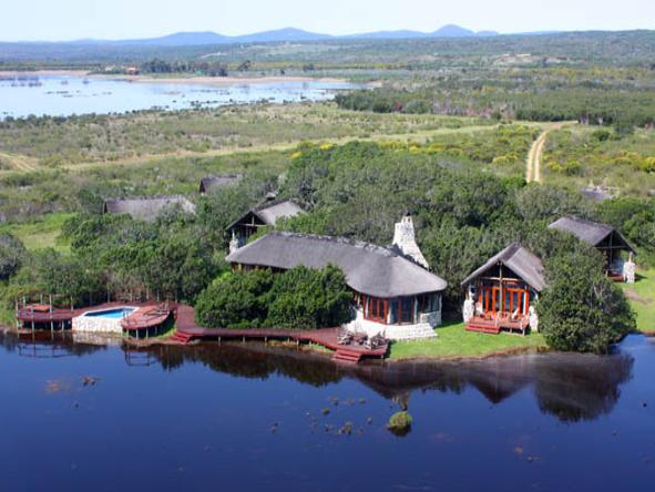 Mosaic - the lodge overlooks the lagoon