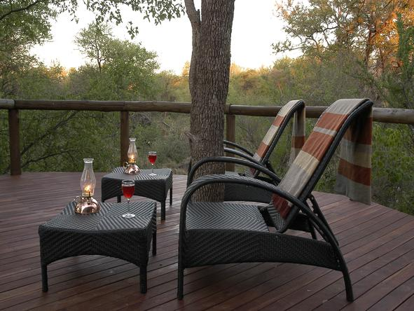 Motswiri Private Safari Lodge - Private Deck