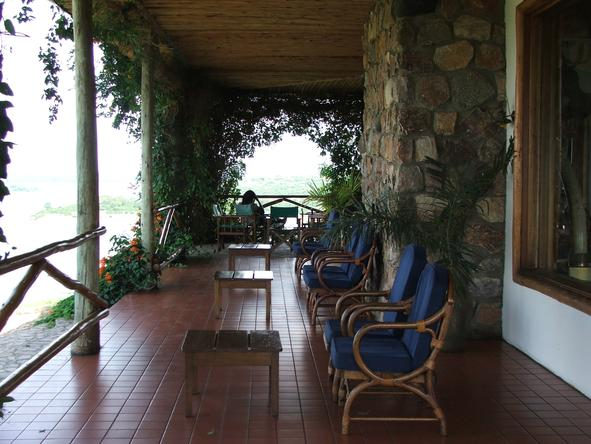 Mweya Safari Lodge - Outside Lounge