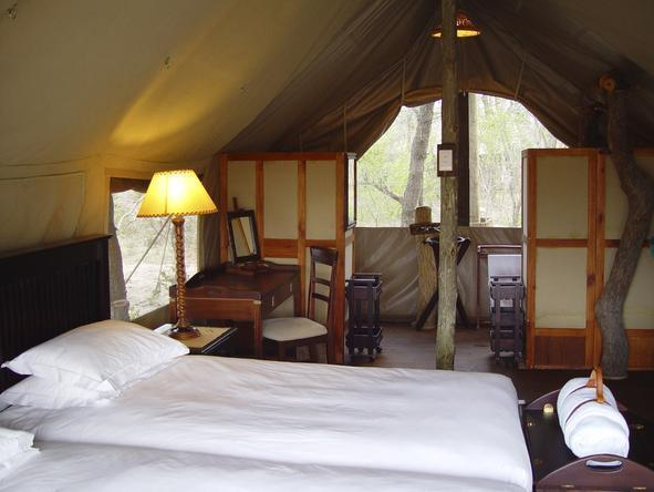 Plains Camp - tents interior