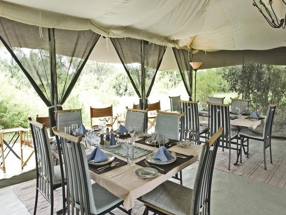 Porini Lion Camp - Dining