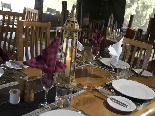 Porini Rhino Camp - Dining