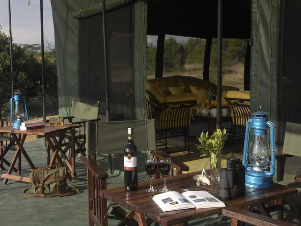 Porini Rhino Camp -Patio