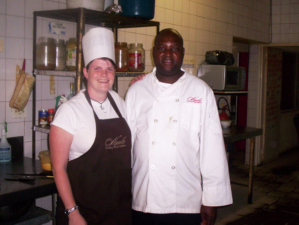 Ramona Cilliers - getting first hand experience in a lodge kitchen
