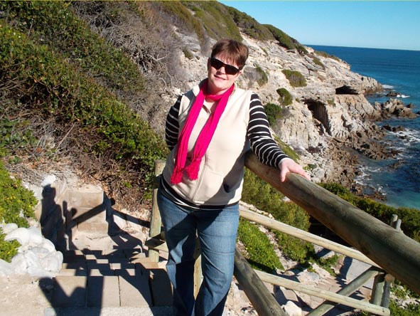 Ramona Rubach - enjoying a scenic coastal walk