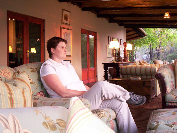 Ramona Rubach - relaxing at Ngala Safari Lodge