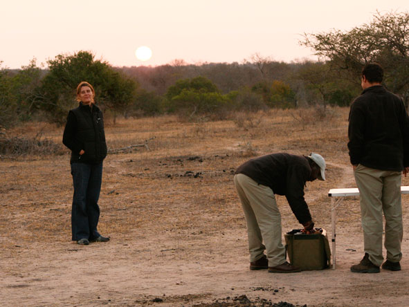 Rikke Williams - enjoying a safari pitstop