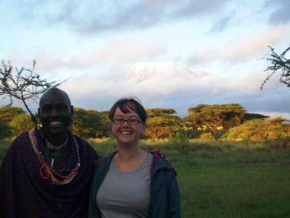 Robyn de Jager - Meeting the locals in Kenya