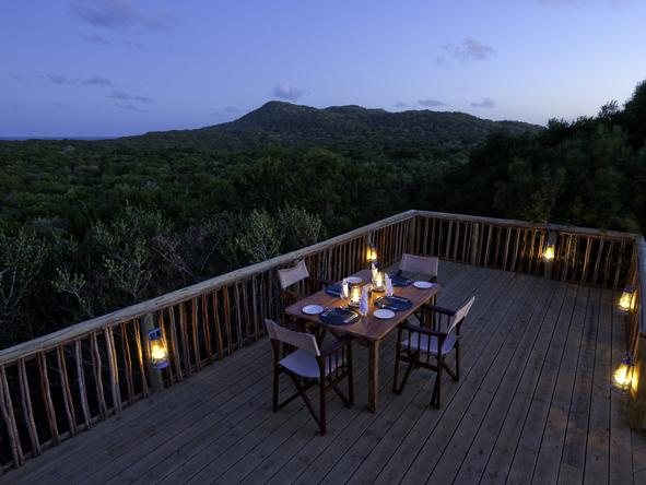 Rocktail Beach Camp - private dining