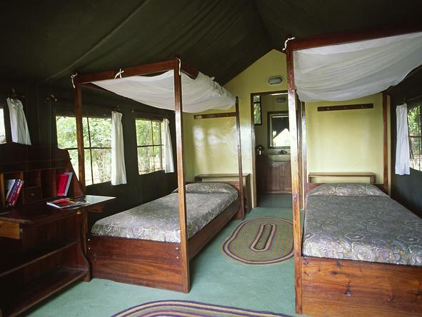 Rufiji River Camp - Interior Tent