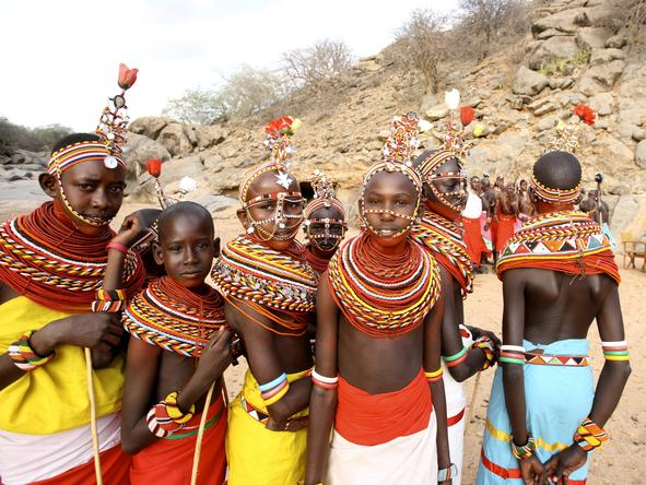 SaSaab Camp - local Samburu teenagers
